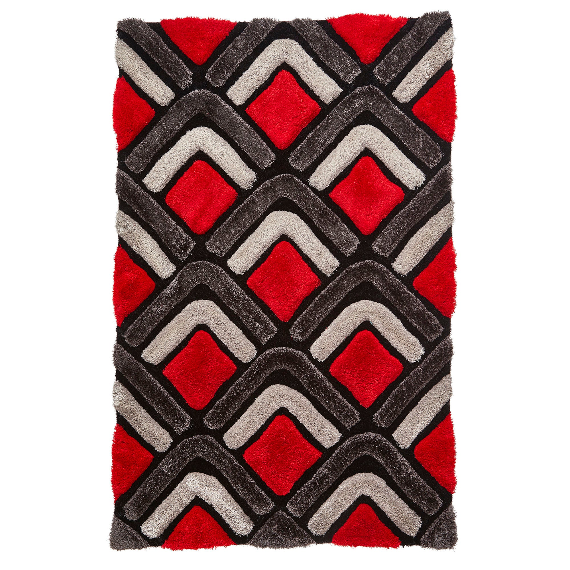 Photo of Black and red noble house nh5858 rug red