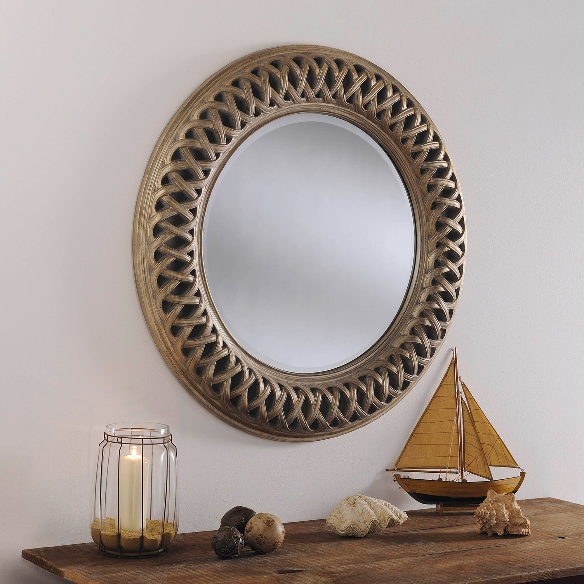 Photo of Manor antique silver wall mirror gold