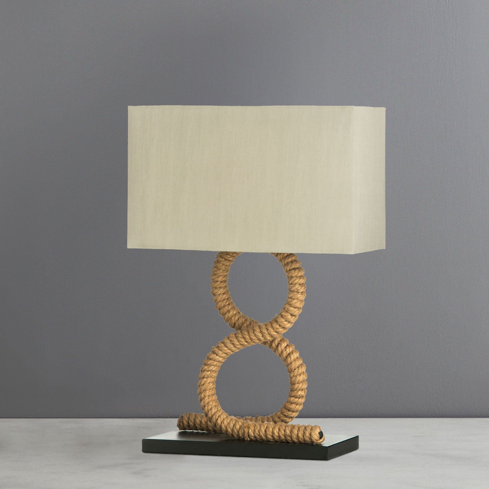 Photo of Maine natural rope table lamp natural