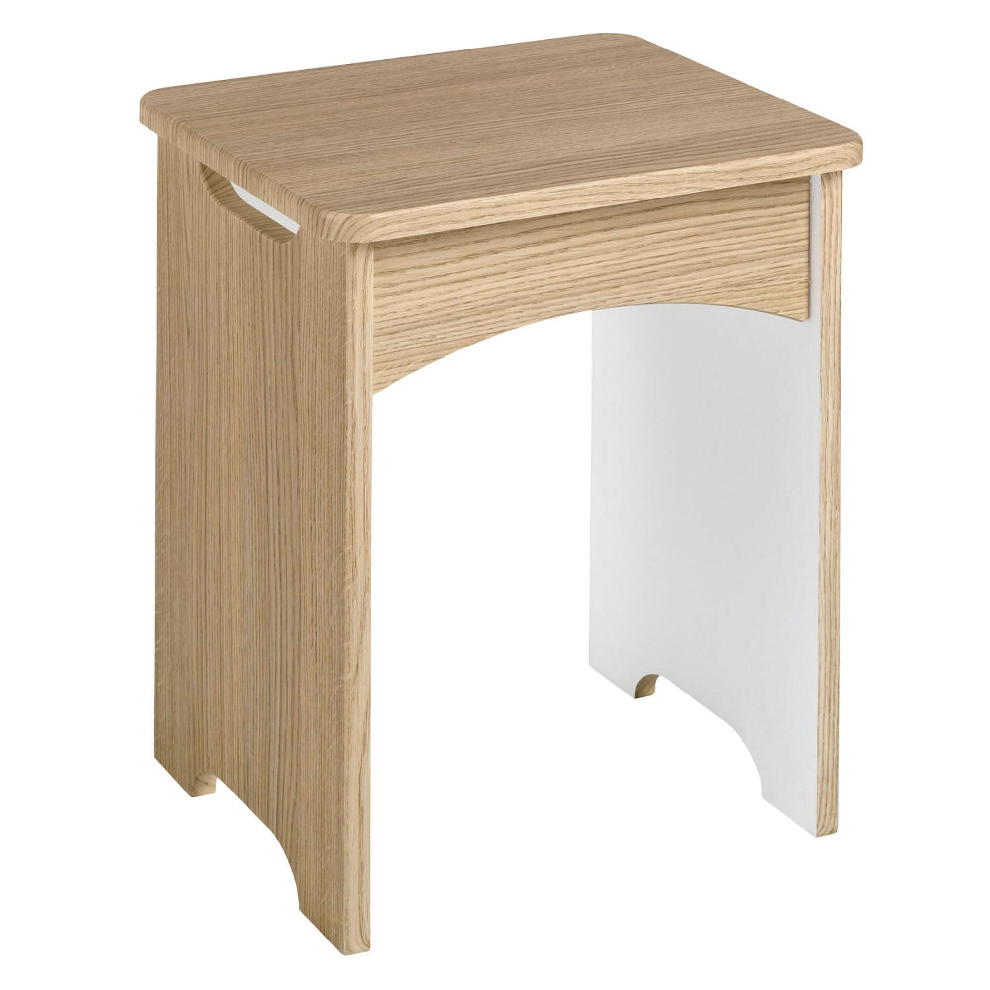 Photo of Andante oak dressing table stool oak
