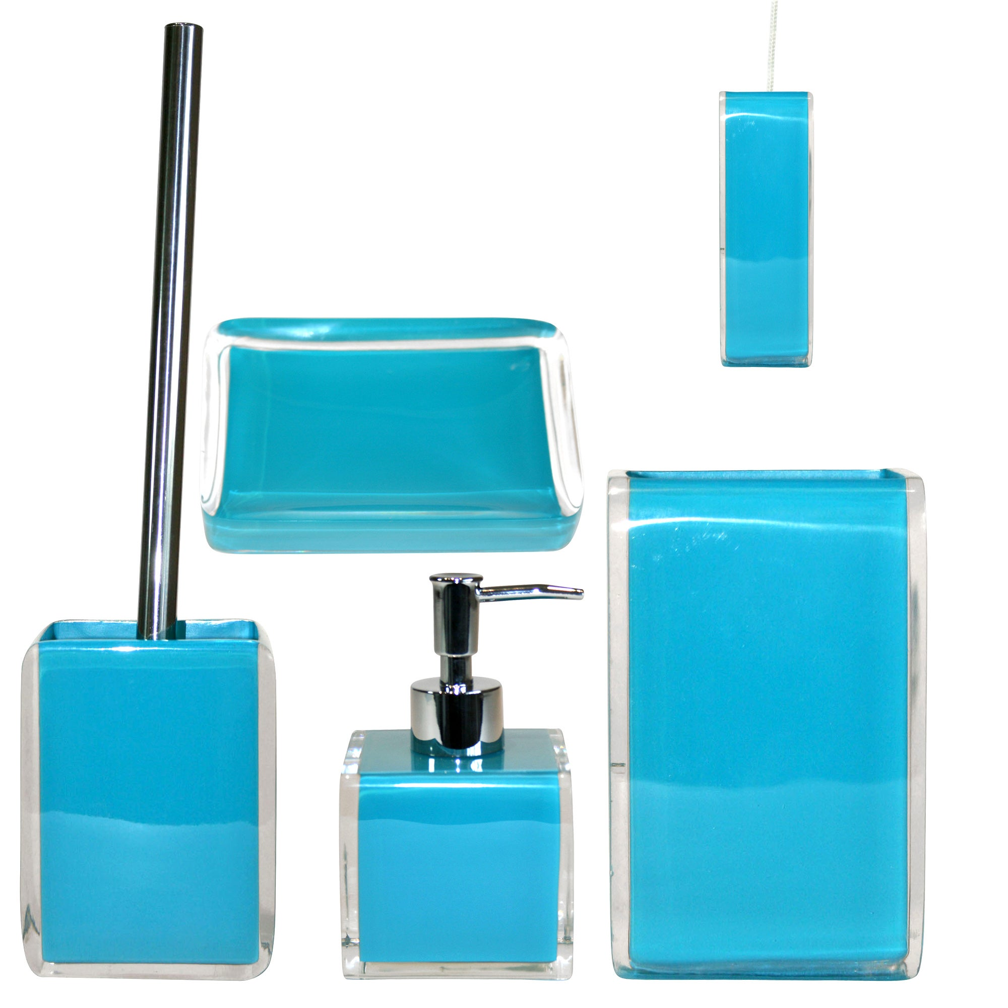 Teal Brights Bathroom Collection