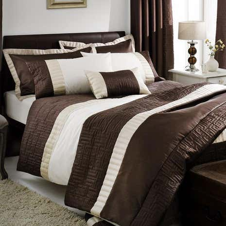 Chocolate Athens Bed Linen Collection Dunelm