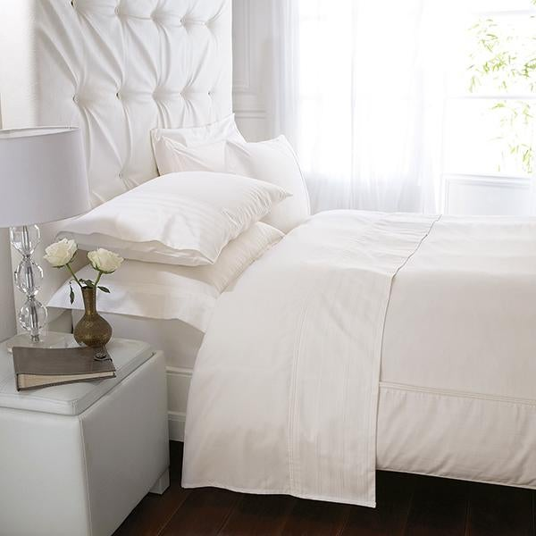 Cream Hotel Stripe 300 Thread Count Bed Linen Collection