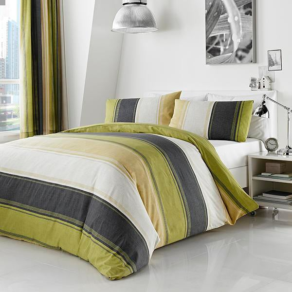 Green Finley Bed Linen Collection