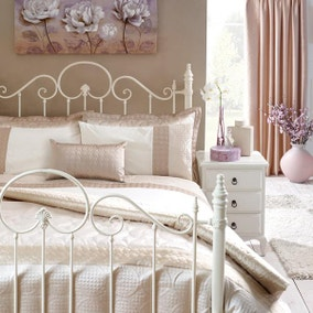 Circles Latte Bed Linen Collection