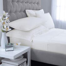 White Hotel Plain 300 Thread Count Bed Linen Collection