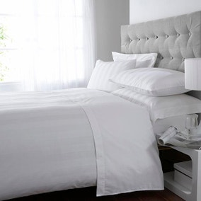 Hotel Stripe White 300 Thread Count Bed Linen Collection