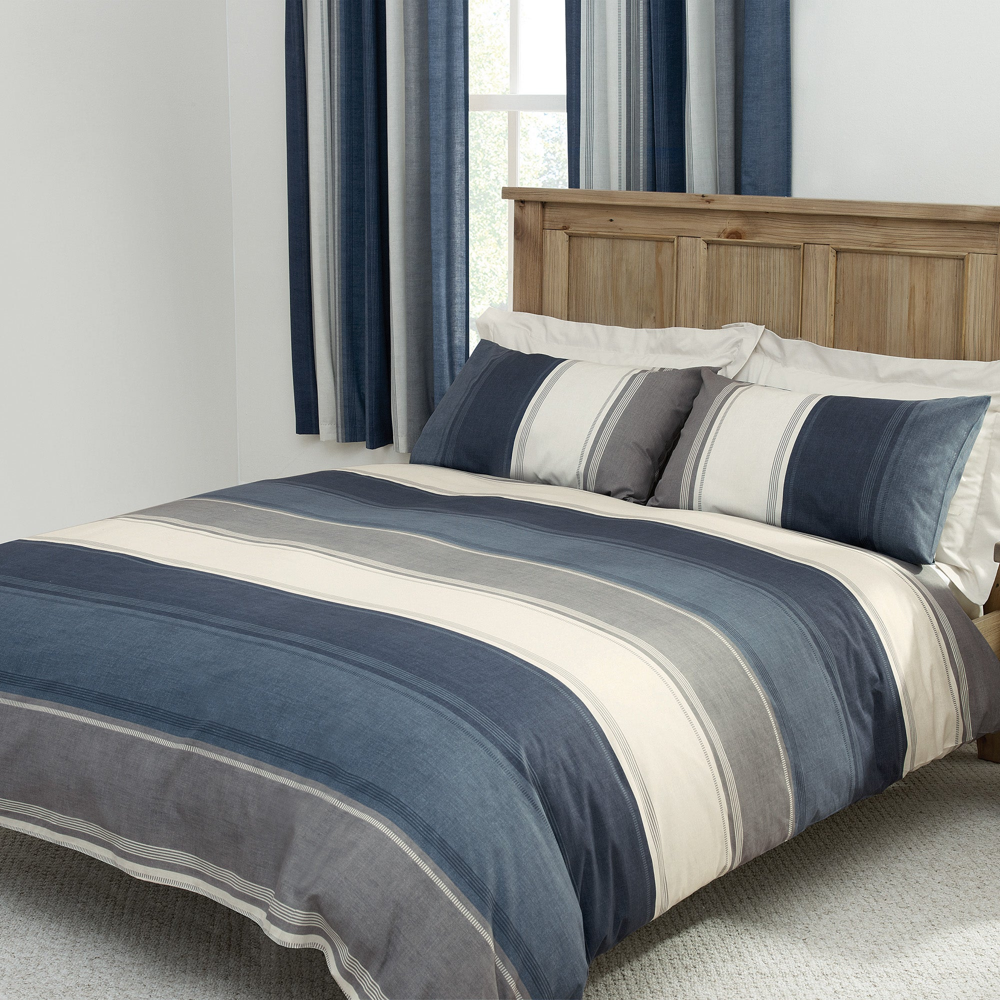 Finley Blue Bed Linen Collection