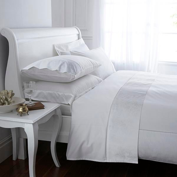 White Hotel Pima Floral 400 Thread Count Bed Linen Collection