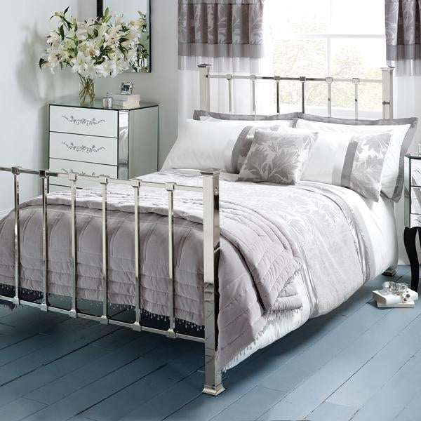 Roma Silver Damask Bed Linen Collection