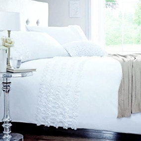 Rosalie White Bed Linen Collection