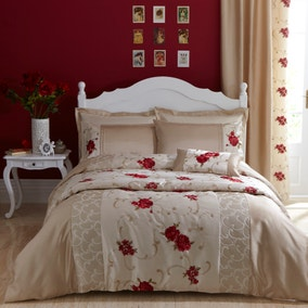 Juliet Red Bed Linen Collection