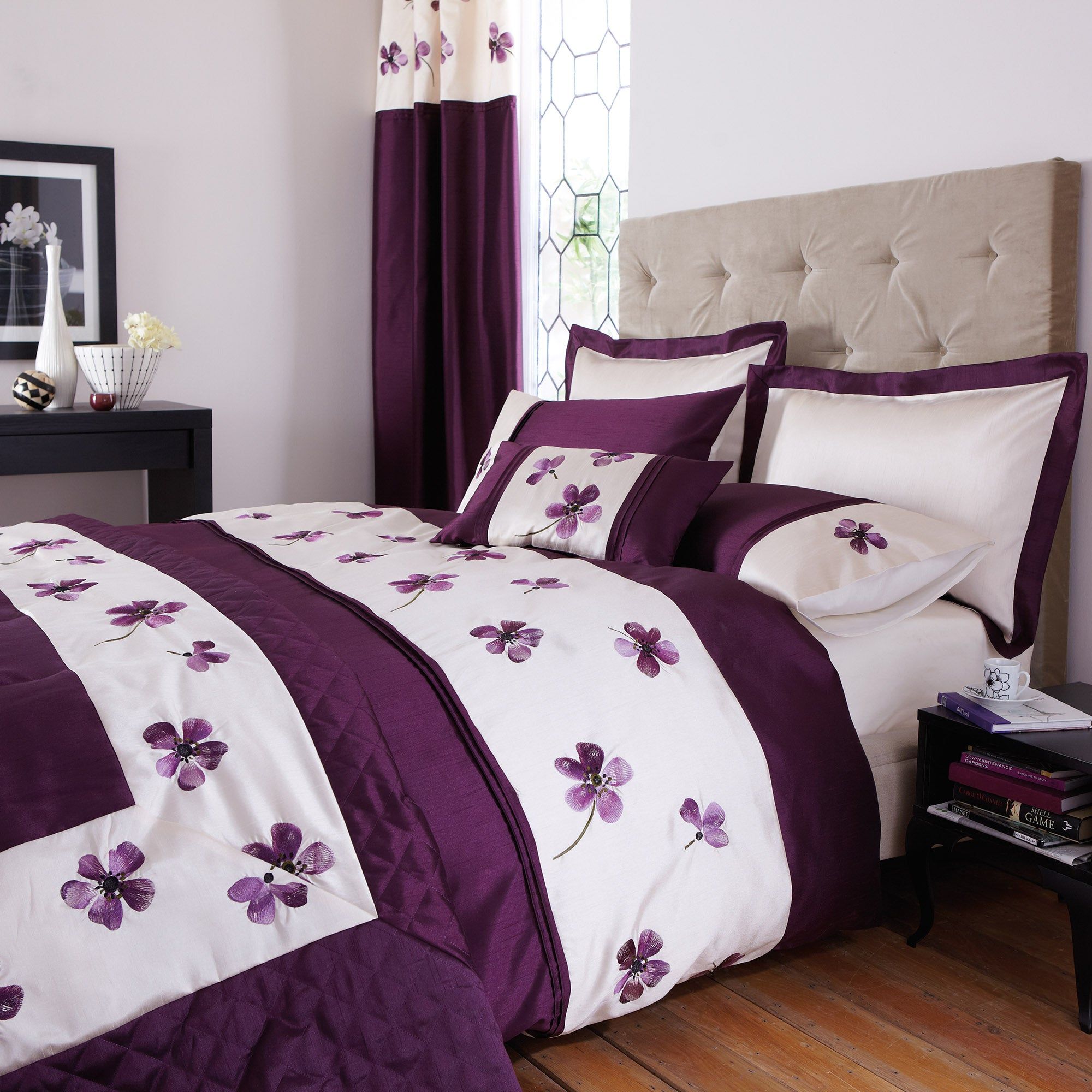 Plum Louisa Bed Linen Collection