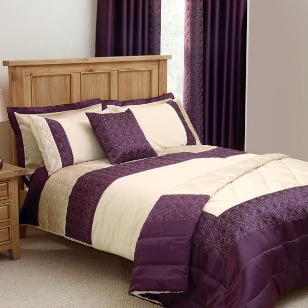 Plum Nouveau Rose Bed Linen Collection