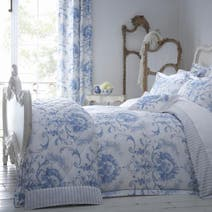 Dorma Blue Toile Bed Linen Collection