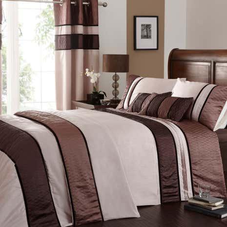 Manhattan Mocha Bed Linen Collection Dunelm