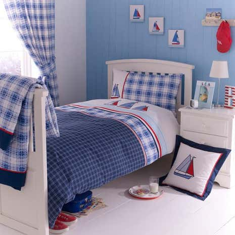Blue Sail Away Bed Linen Collection Dunelm