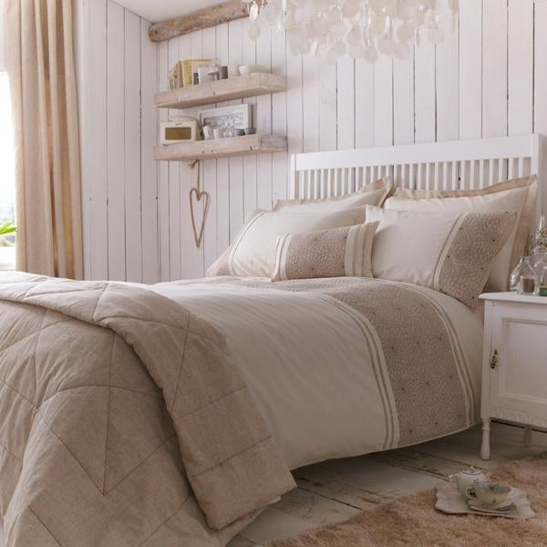 Natural Saki Bed Linen Collection