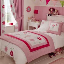 Kids Cerise Flower Garden Bed Linen Collection