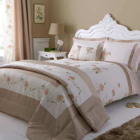 Rosa Gold Bed Linen Collection Dunelm