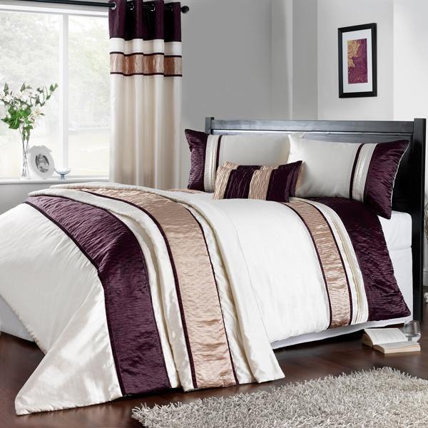 Manhattan Plum Bed Linen Collection Dunelm