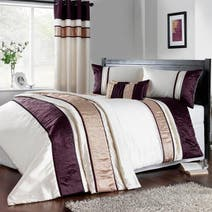 Plum Manhattan Bed Linen Collection