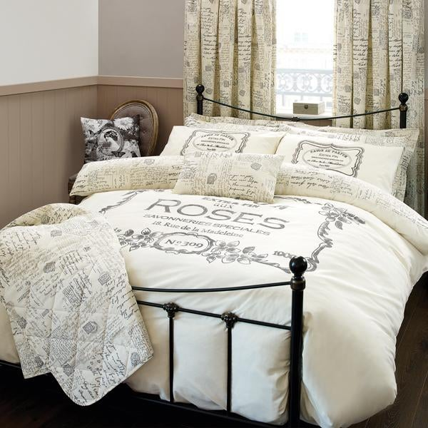Cream Vintage Paris Bed Linen Collection