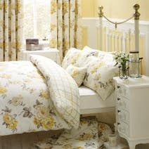 Lemon Windermere Bed Linen Collection