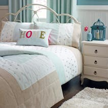 Duck Egg Country Spot Bed Linen Collection