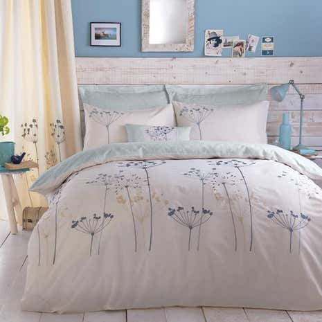 Duck Egg Cow Parsely Bed Linen Collection Dunelm