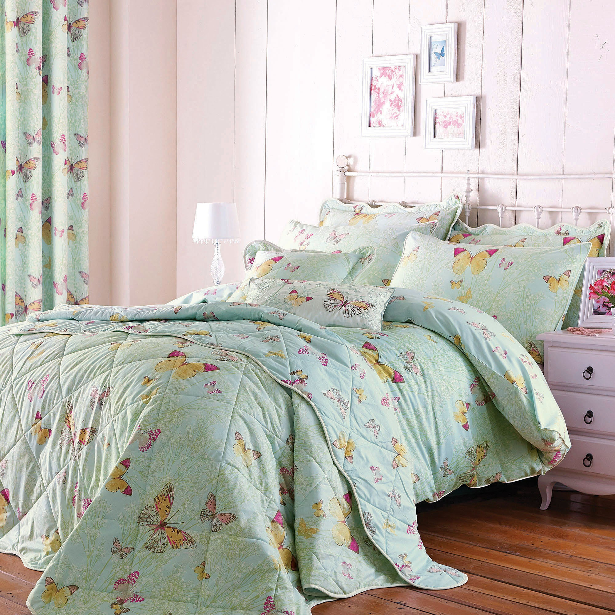 Botanica Butterfly Eau de Nil Bed Linen Collection