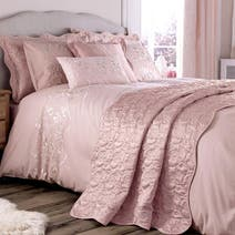 Dusky Pink Florentine Bed Linen Collection