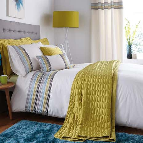 Montreal Teal Bed Linen Collection Dunelm