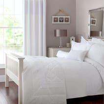 Leighton White Bed Linen Collection