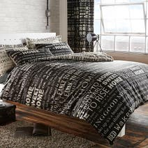 Black Good Morning Bed Linen Collection