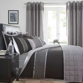 Mercury Black Bed Linen Collection