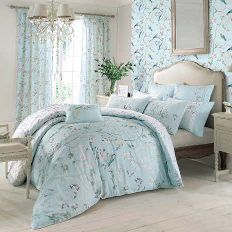 Dorma Maiya Duck Egg Bed Linen Collection Dunelm