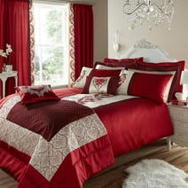 Red Beatrix Bed Linen Collection