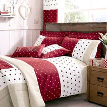 Red Country Spot Bed Linen Collection