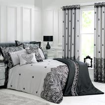 Grey Deco Flock Bed Linen Collection