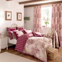 Dorma Red Willoughby Bed Linen Collection