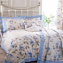 Blue Layla Bed Linen Collection