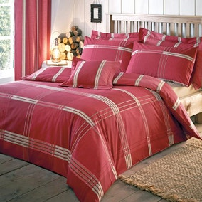 Blake Red Bed Linen Collection
