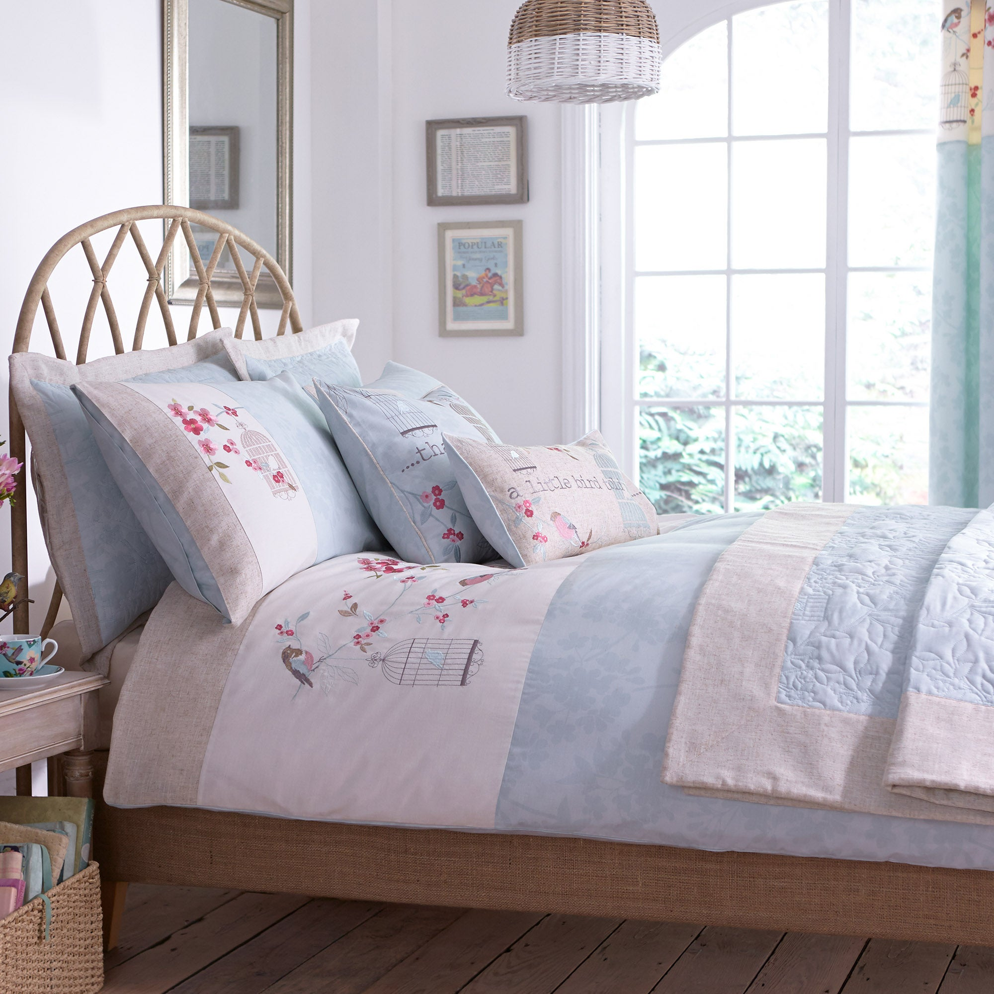 Evelyn Duck Egg Bed Linen Collection