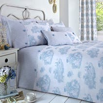 Toile de Jouy Blue Bed Linen Collection