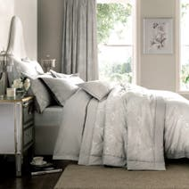 Dove Grey Dorma Paloma Dove Bed Linen Collection