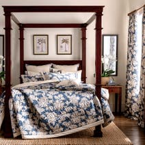 Dorma Blue Samira Bed Linen Collection