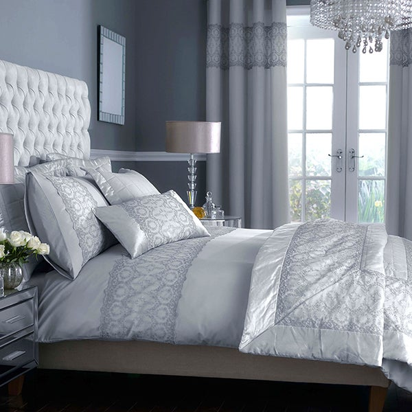 Claudia Grey Bed Linen Collection
