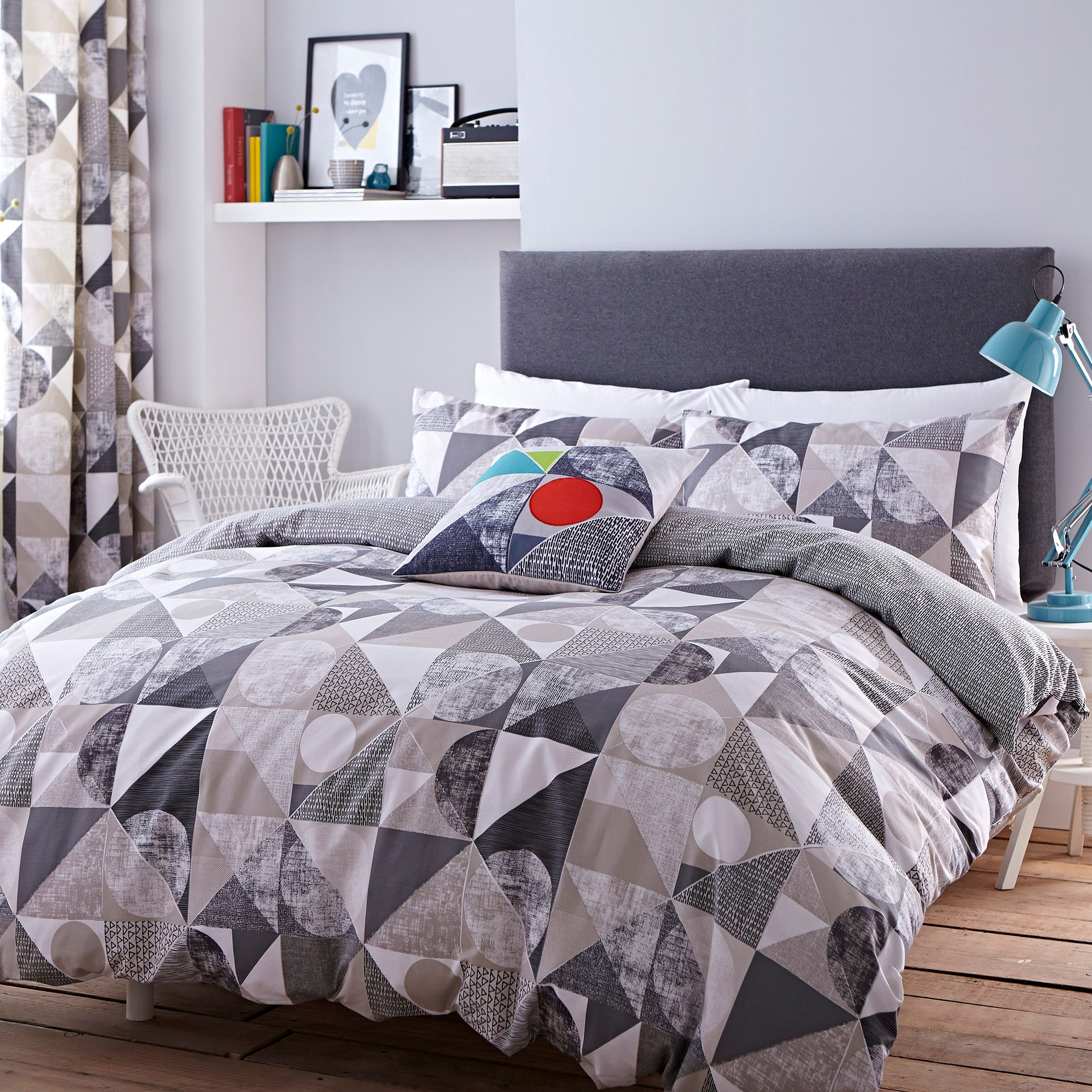 Elements Grey Geo Bed Linen Collection