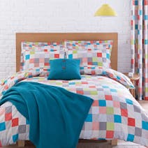 Elements Teal Pixel Bed Linen Collection